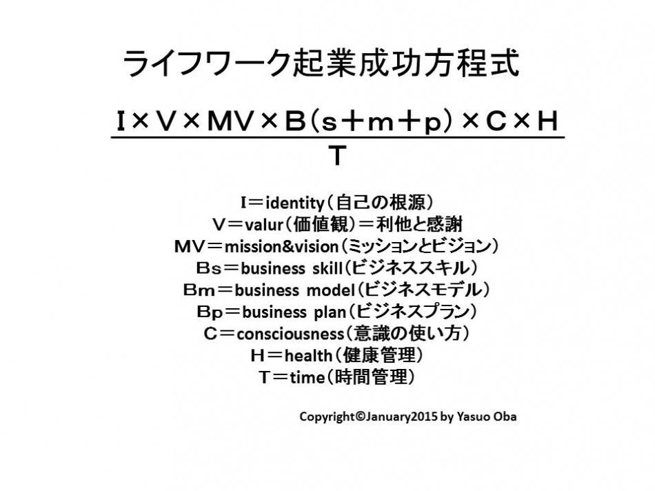 ライフワーク起業成功方程式